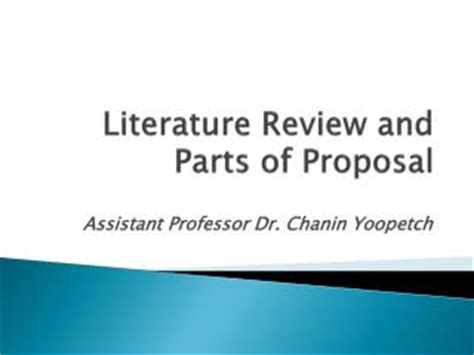 Criteria for a research proposal